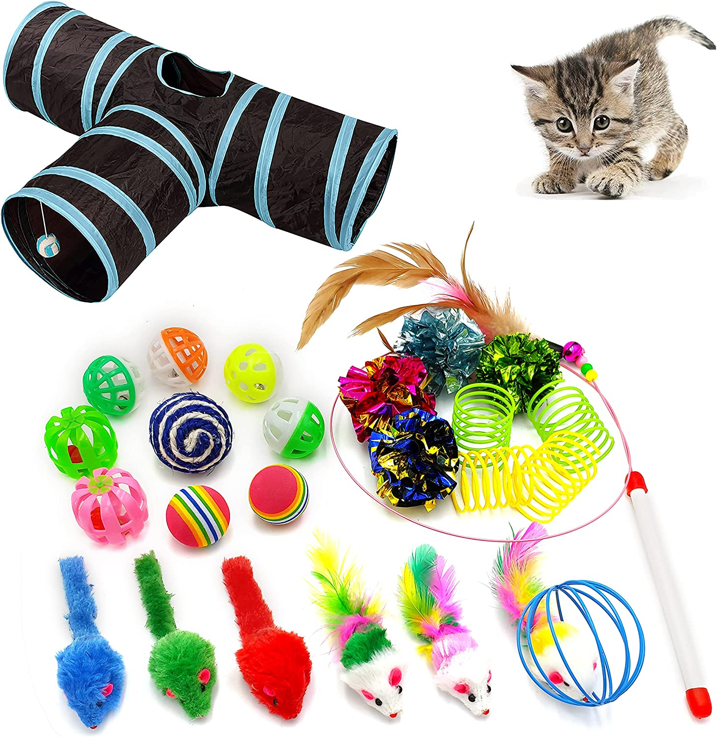 iCAGY Cat Seasonal Wrap Introduction Toys for Indoor Chicago Mall Assorted 25 Cats Stuf Interactive
