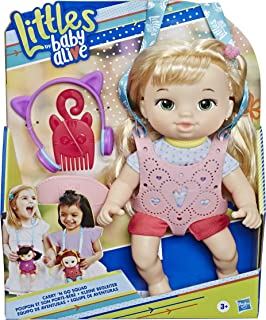 Baby Alive Littles, Carry 'N Go Squad, Little Chloe Blonde Hair Doll, Carrier, Accessories, Toy for Kids Ages 3 Years & Up