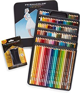 Prismacolor Premier Colored Pencils, Soft Core, 132 Pack (4484) with Premier Pencil Sharpener (1786520)