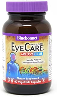 Bluebonnet Nutrition Targeted Choice Eye Care Areds2, Blue, 60 Count