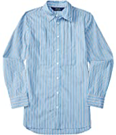 Polo Ralph Lauren Kids - Yarn-Dyed Cotton Poplin Stripe Tunic (Big Kids)