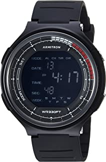 Armitron Sport Men's 40/8418BLK Digital Chronograph Black Resin Strap Watch