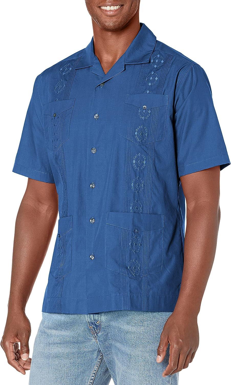 Ranking Japan's largest assortment TOP9 Cubavera Men's Camp Collar Shirt Guayabera Embroidered