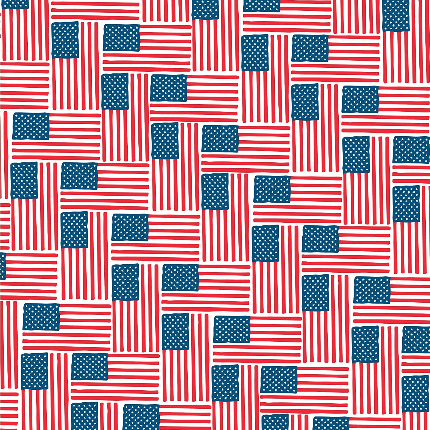 American Crafts 341398 12 x 12 Patriotic Flags Paper (25 Pack), Multicolor