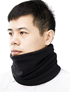 Cotton Velvet Neck Warmer, Winter Super Soft and Stretchy Neck Gaiter, Black