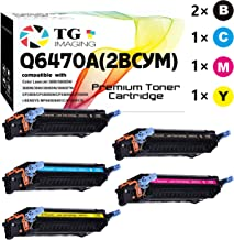 (5-Pack, 2B+C+M+Y) Compatible HP 501A Q6471A Q6472A Q6473A Q6470A Remanufactured Toner Cartridge Used for HP 3600 3600N 3600DN 3800N 3800DN 3800DTN CP3505 CP3505N CP3505X CP3505DN Printer, by TG