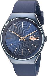 """Lacoste reloj automático""""Valencia"""" de resina y de silicona de cuarzo para mujer, color: azul (modelo: 2000951)"""