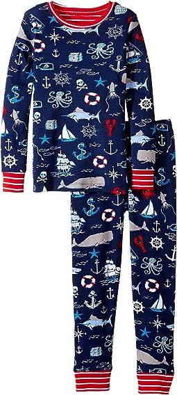 Hatley Kids - Vintage Nautical Pajama Set (Toddler/Little Kids/Big Kids)