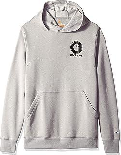 a969d6a0 Carhartt Men's Force Delmont Graphic Hooded Sweatshirt, Asphalt Heather,  Medium