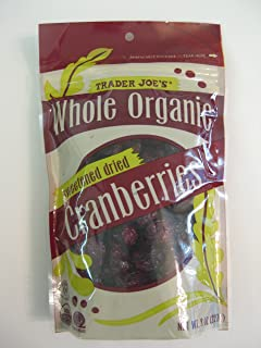 3 Packs Trader Joe's Whole Organic Sweetened Dried Cranberries