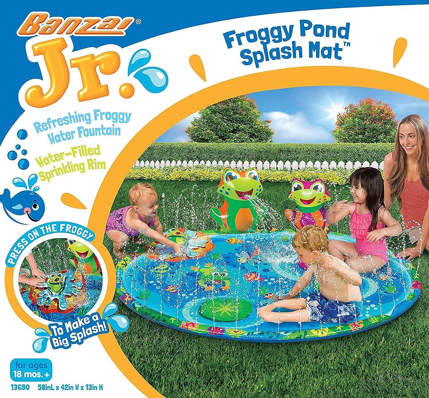 BANZAI 13690 Froggy Pond Splash Mat