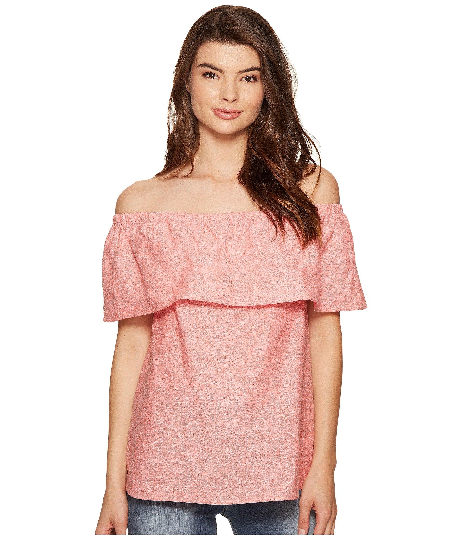 Blusa para Mujer kensie Cross Dye Linen Blend Top KS5K4323  + kensie en VeoyCompro.net