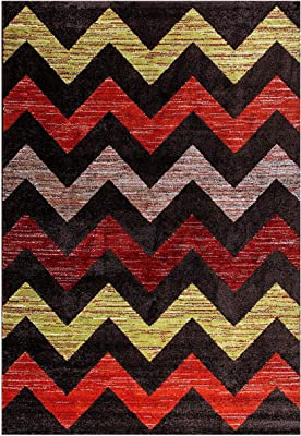 Homemania Tapis imprimé Color Wave 1, Impression Multicolore, en Micro Polyamide 160 x 120 cm