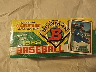 1989 Bowman Retail Set (MLB - Baseball - 484 Cards - Ken Griffey Jr. RC) (Factory Sealed)