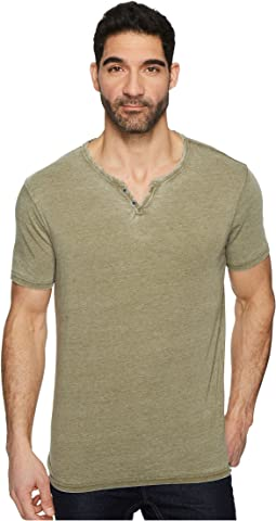 Lucky Brand - Burnout Button Notch Shirt