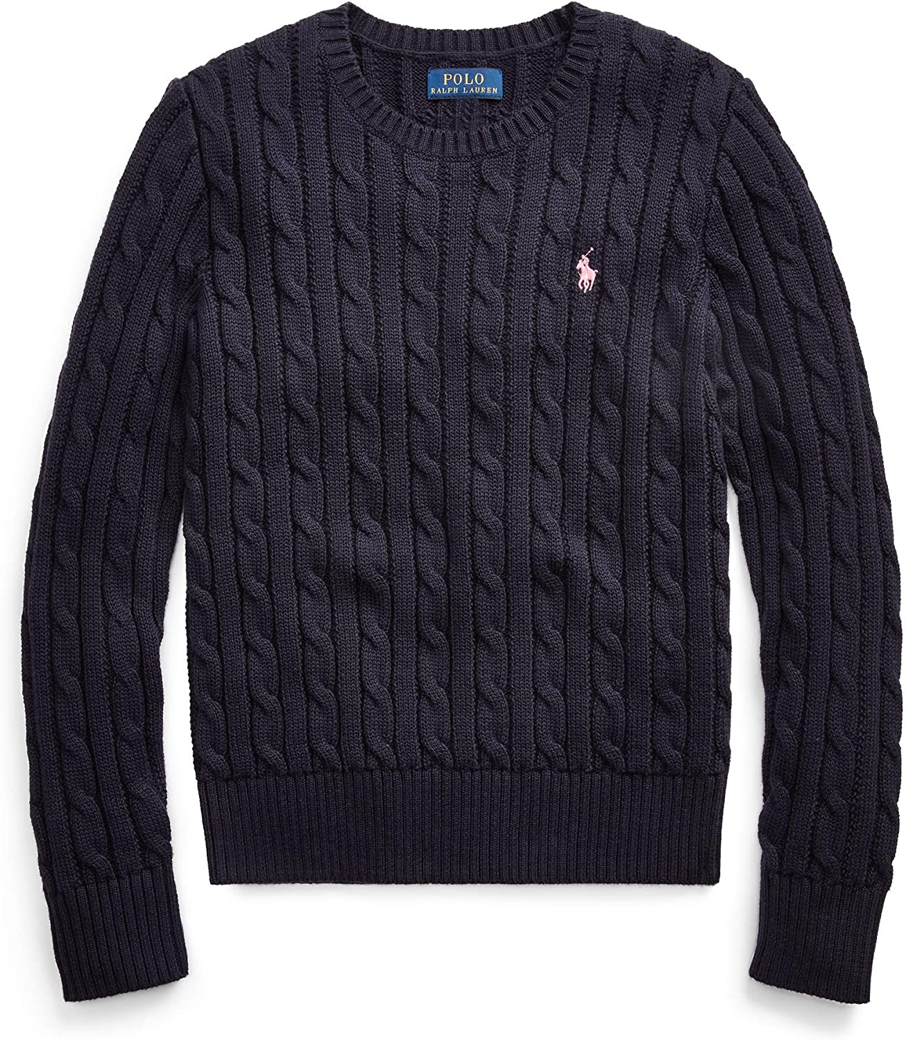 Polo Ralph Lauren Girl's Cable Knit Crew-Neck Sweater