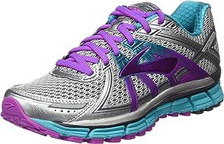 Brooks Women's Adrenaline Gts 7Running Shoes, Silver/Purple Cactusf Lower/Blue