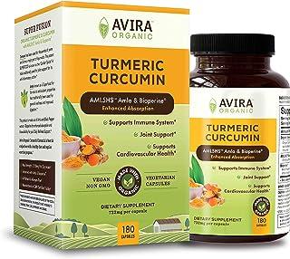 Avira Organic Turmeric Curcumin with Bioperine, Max strength