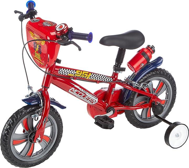 Bicicletta cars 3 per bambini da 2 - 4 anni disney 17190 - 12