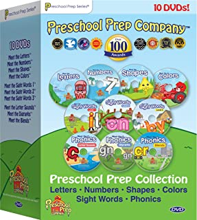 Preschool Prep Series Collection - 10 DVD Boxed Set (Meet the Letters, Meet the Numbers, Meet the Shapes, Meet the Colors,...