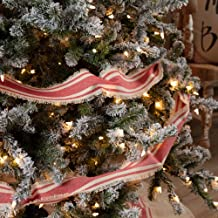 Piper Classics Mill Creek Red Christmas Tree Garland 9ft, Country Farmhouse Christmas and Holiday Seasonal Decor