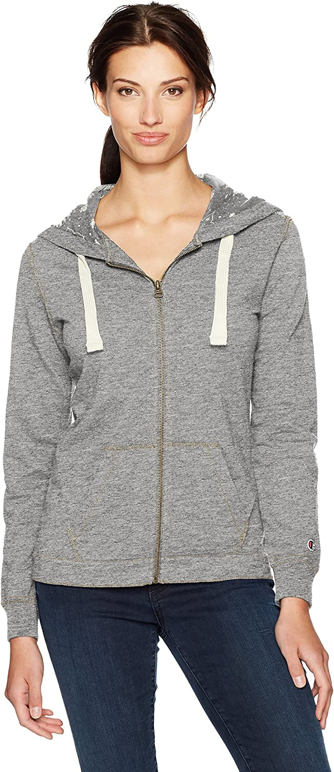 Champion Womens European Collection French Terry Full Zip Hoodie (Limited Edition)