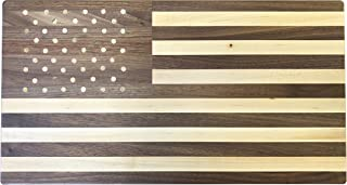 American Flag Cutting Board by Rustic Red Door Co |10x18, Wooden | Premium Solid Walnut and Maple Wood | American Made