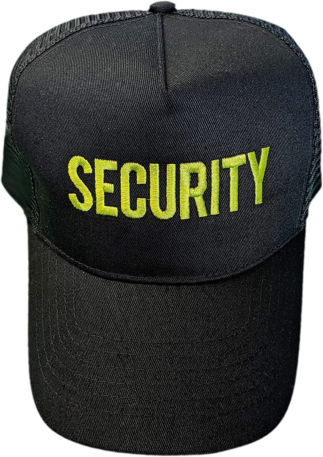 NYC FACTORY Embroidered USA Security Baseball Hat Recycled Cotton Mesh Trucker Cap