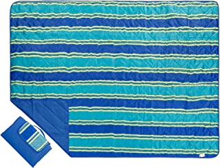 Outdoor Blanket Large Picnic Blanket Water-Resistant and Sand Proof Beach Blanket- Compact Mat Folds into a Tote Bag for Traveling