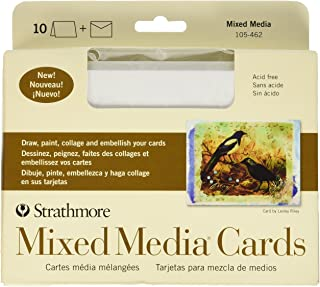 Strathmore Mixed Media Vellum, 5 x 6-7/8 Inches, White, 10 Cards & Envelopes
