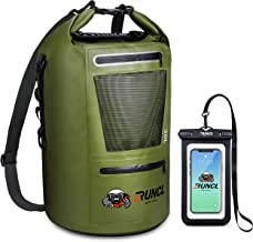 RUNCL Waterproof Dry Bag ANCOHUMA, Dry Compression Sack 10/20/30/40L, Dry Backpack with Waterproof Phone Case - Reinforced...