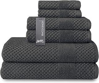 Chortex Honeycomb 100% Turkish Cotton 6 Piece Towel Set, Set of 6, Magnet