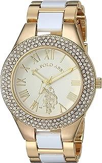 U.S. Polo Assn. Women's Analog-Quartz Watch with Alloy Strap, White, 19 (Model: USC40218AZ)