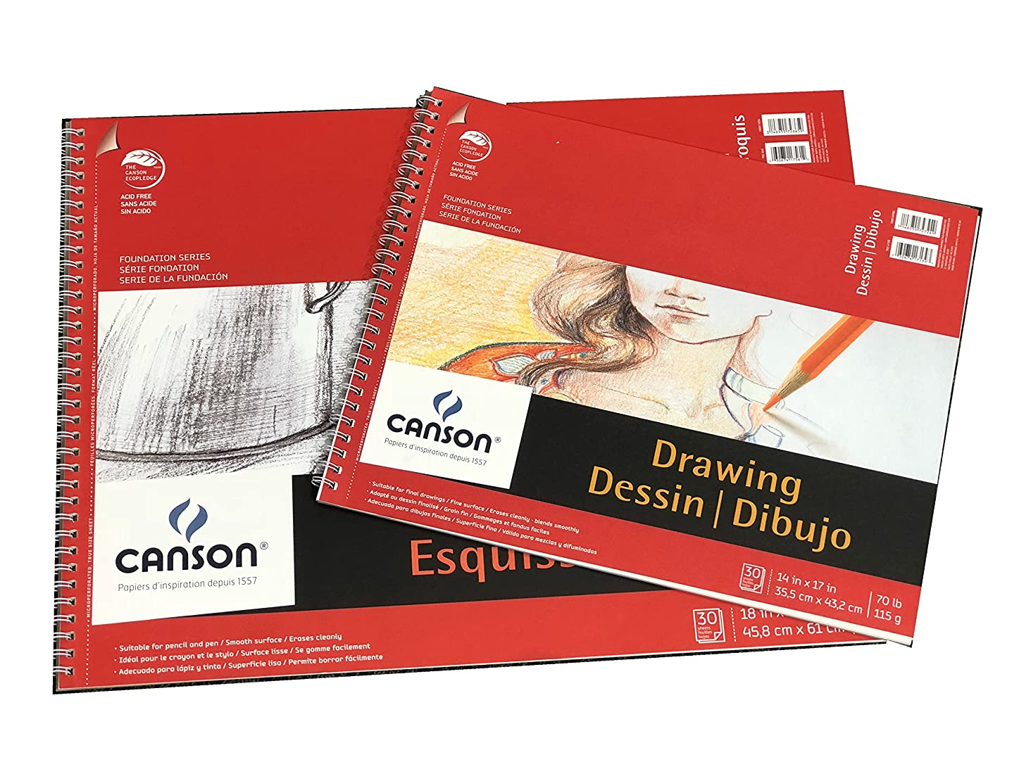 Canson Foundation Series Drawing Paper 14 x 17 and Sketch Paper 18 x 24