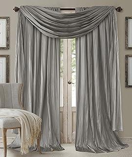 Elrene Home Fashions 26865855173 Window Curtain Drape Rod Pocket Panel, Set of 3, 52