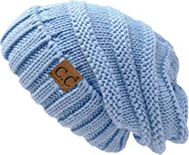 FunkyJunque Trendy Warm Oversized Chunky Soft Oversized Cable Knit Slouchy Beanie