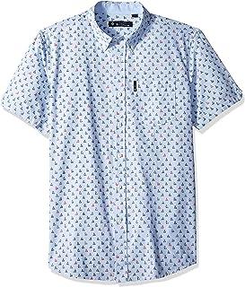 Ben Sherman Men's Ss Sailboat Print Shirt