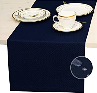 Navy Blue Table Runner 72 inch, Waterproof Dresser Scarf, Outdoor Coffee Table Runner - Elegant Dining Table Runners for F...