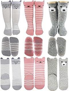 Baby Girl Knee High Socks 8-24 Months Toddler Girls Long Non
