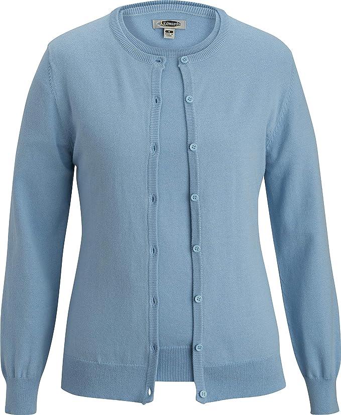 Vintage Sweaters, Retro Sweaters & Cardigan Edwards Ladies Corporate Performance Cardigan Twinset  AT vintagedancer.com