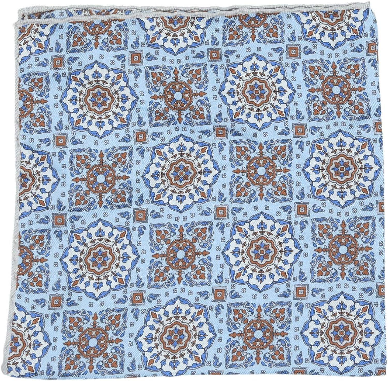 Paolo Albizzati Men's Floral Damask Silk Pocket Square