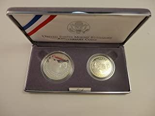 1991 S Mount Rushmore National Memorial Two Coin Proof Set