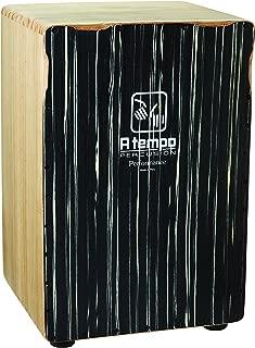 A Tempo Percussion Performance Series Cajon (Black Stripe)