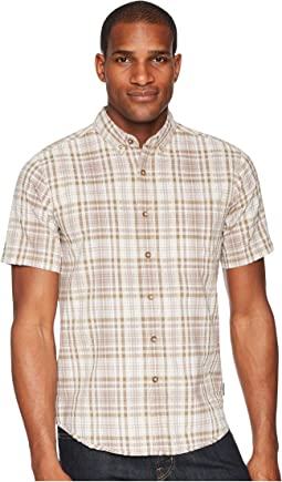 Mid-Coast Seersucker Plaid Short Sleeve