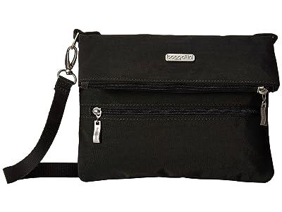 Baggallini Flip Zip Crossbody (Charcoal) Cross Body Handbags
