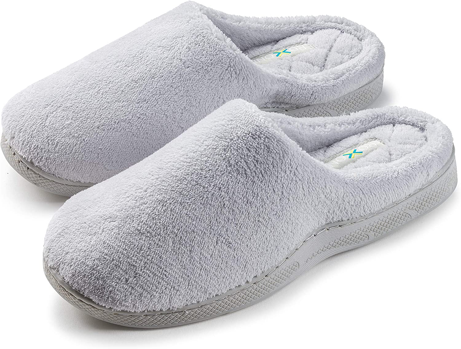 Joan Vass Ladies Terry Clog House Slippers Available in Megnacifint colors