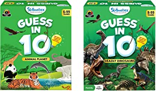Skillmatics Guess in 10 - Animal Planet (Ages 6-99 Years) + Deadly Dinosaurs (Ages 8-99) Bundle | Card Game of Smart Quest...