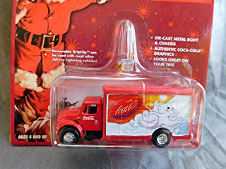 Coca-Cola International Delivery Truck Holiday Ornament with Removable Hanger Santa Claus Card 1:64 scale die-cast by Johnny Lightning