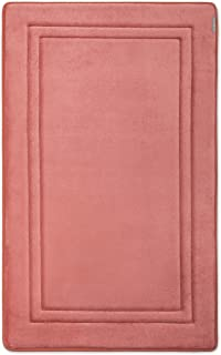 MICRODRY Quick Drying Memory Foam Framed Bath Mat with GripTex Skid-Resistant Base | 21x34 (Ash Rose)