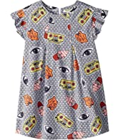 Kenzo Kids - Printed Ruffle Short Sleeve Dress (Little Kids)
